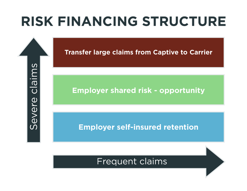 Risk finance structure for ClearCaptive.